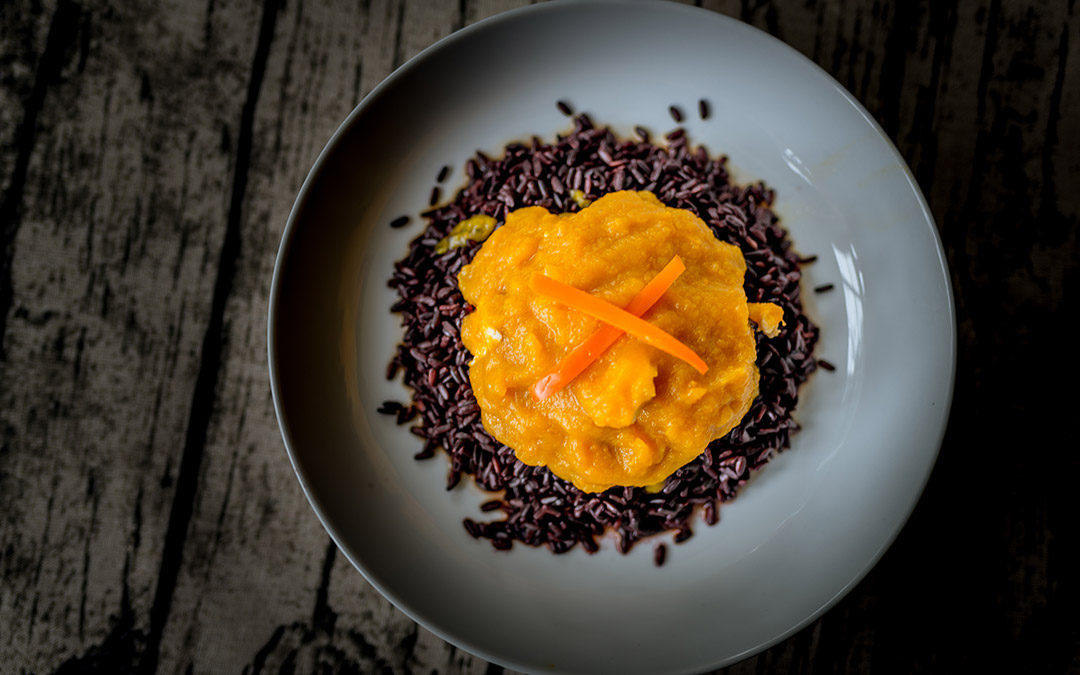 pumpkin and black rice